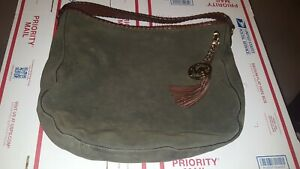 MICHAEL KORS Large Olive Green Suede Leather Shoulder Hobo Bag - GREAT ! ! ! ! !