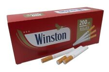 WINSTON RED 800 King Size Empty Filter Tubes 4 boxes x 200