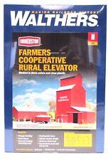 N Scale Walthers Cornerstone 933-3238 Farmer's Co-op Rural Grain Elevator Kit