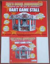 Fairground Dart Game Stall Model Card Kit on PDF Disc + A4 Card