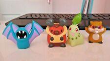RARE Pokemon Bandai Figures Chikorita, Kricketot, Patrat, Zubat NMint condition