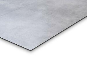Klick Vinyl Fliesenoptik hell grau Beton Steinoptik XL 45x90cm 55716 ab m²/25€