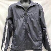 NIKE Vintage 90s Gray Windbreaker Jacket Zip Front Mens Medium