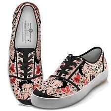 46b858bdc9 NIB Bradford Exchange Women s Betty Boop Retro Lace Up Sneakers Sizes ...