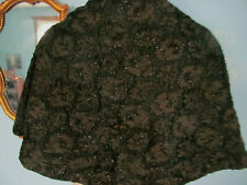 Antique Victorian Evening Mourning Cape Mantle Capelet w/Gorgeous Jet Beading