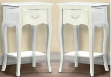 "Sale! ** Set of 2 **25.5"" WHITE COUNTRY LOFT SIDE NIGHT TABLE *DRAWER SHELF* NIB"