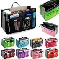 Travel Insert Organizer Handbag Purse Large Liner Women Makeup Organiser Bag LD