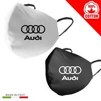 Mascherina Audi Personalizzata 100% Cotone Made in Italy adulto bambino