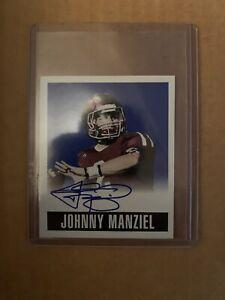 2014 Leaf Originals Blue Johnny Manziel On Card Autograph #/25