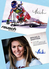 Mikaela shiffrin - 2 top autógrafo imágenes (11) - Print copies + ski ak firmado