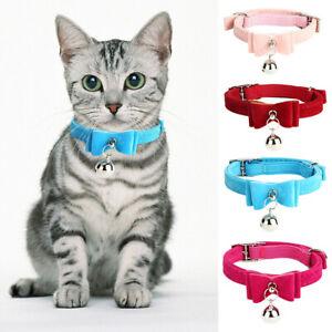 Cute Elastic Cat Kitten Pet Puppy Plaid  Bow Tie Collar With Bell Tie Necktie