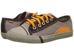 Umi Borneo Leather and Textile Brown Trainer Various Sizes