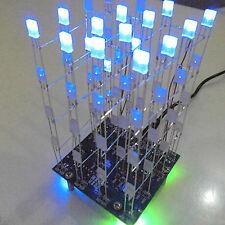 GOOD 3D LED LightSquared 4x4x4 2*5*7MM LED Cube White LED Blue Ray DIY Kit