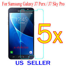 5x Clear Screen Protector Guard Cover Film Samsung Galaxy J7 Perx / J7 Sky Pro