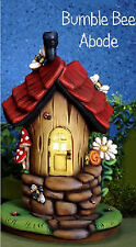 Ceramic Bisque Ready to Paint Bumble Bee Abode and Base Fairy House w/electric