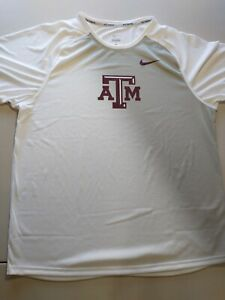 Nike Men's Pro Elite L Texas A&M Aggies Track Team Running Top Wh/GY 824806 @kw1