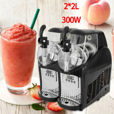 Slush Machine 2 Tanks Commercial Frozen Drink Beverage Maker Slushie Maker 110V