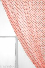 Urban Outfitters Assembly Home Hashed Curtain Hot Coral Color 83L LAST ONE