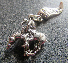 Vintage Sterling Silver Las Vegas Charm   Bucking Horse Rider Nevada