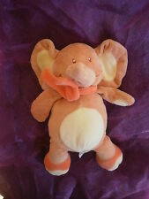 DOUDOU elephant orange marron ecru 25cm  BENGY