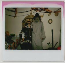 Vintage 80s Kodak Instant PHOTO Couple In Costumes Mexican Bandit, Freddy Kruger