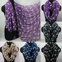 Women Fashion Scarves Galloping Horses Print Ladies Soft Long/Infinity Scarf New