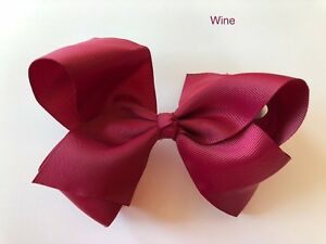 """6"""" Hair Bow Jojo Style Clip Large for Girls Kids Toddler Teen School Dance Party"""