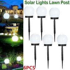 2/6pc LED Garden Light Solar Round Ball Waterproof Outdoor Path Lights Lawn Lamp