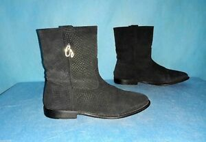 bottines boots GUESS en cuir noir 37 fr