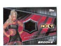 WWE Dana Brooke 2016 Topps Divas Revolution Event Used Mat Relic Card SN 7 of 25