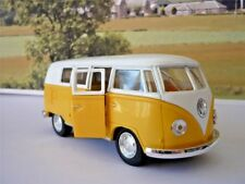 Yellow VW Classical Camper Bus Girls Boys Toy Model Birthday Present Pull Back