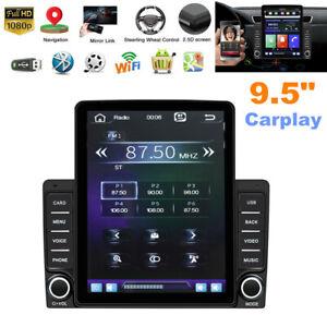 "9.5"" IPS Car Stereo Radio Vertical Screen Built-in Carplay GPS Navi FM Wifi Kit"