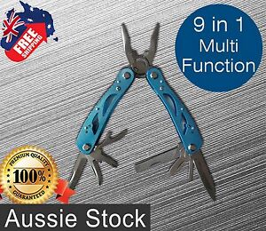 Multi Tool Pliers Alumite Handle Camping Tools 9 in 1 Compact Pliers FreeShip*