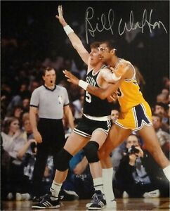 Bill Walton Hand Signed Autographed 16x20 Photo Boston Celtics Abdul Jabbar psa
