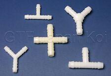 Schlauchverbinder Luftschlauc  T-Stück, Y-Stück,   Kreuz-Stück     3mm bis 25mm