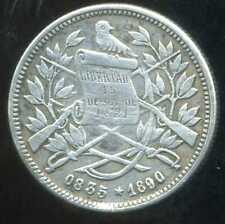 GUATEMALA   1 real 1890  ( ARGENT  SILVER )