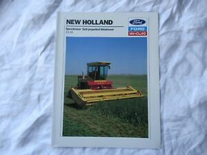 1989 Ford New Holland 1118 speedrower self propelled windrower brochure