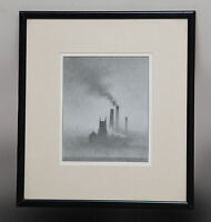ORIGINAL URBAN PENCIL DRAWING BY MARC GRIMSHAW NORTHERN (FRAMED BY TREVOR ARTS)