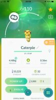 Pokemon Go SHINY CATERPIE Level 16 Account BAN/HACK FREE!