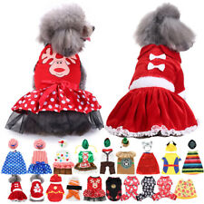 More details for small pet dog cat clothes halloween xmas party fun dress costume cartoon outfit