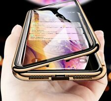 Double Sided Glass Magnetic Adsorption Phone Case For iPhone X XR XS Max 8 7 New