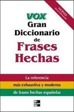 Vox Gran Diccionario de Frases Hechas : Vox Dictionary of Spanish-ExLibrary