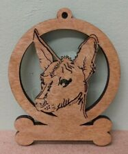 Mexican Hairless - Laser Cut Wood Dog Ornament - Can be Personalized