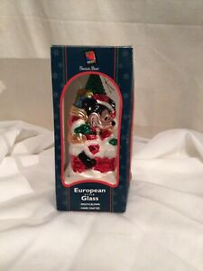 EUROPEAN STYLE-GLASS MICKEY MOUSE ORNAMENT