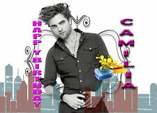 Personalised - ROBERT PATTINSON - Birthday Greeting Card Any Occasion