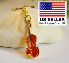 Red Violin or Viola Keychain, music Gift