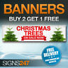 CHRISTMAS TREES NOW ON SALE waterproof PVC banner sign (YA003)