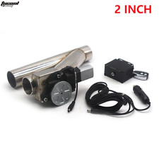 "Universal 2"" 51mm Electric Exhaust Cutout Y-Pipe Valve Kit Switch Remote Control"