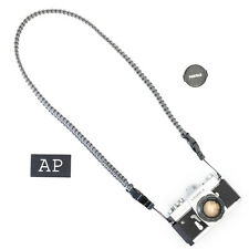 Braided Camera Strap in Charcoal Gray by apmots - Paracord Shoulder Sling