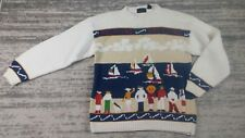 Vintage Abercrombie & Fitch Yachting Sailing Men's Sweater - Cotton Size Large